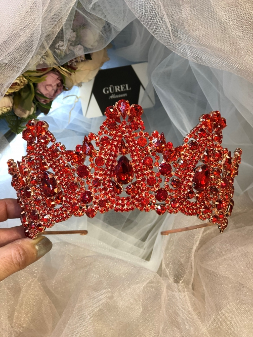 Crystal Red Tiara