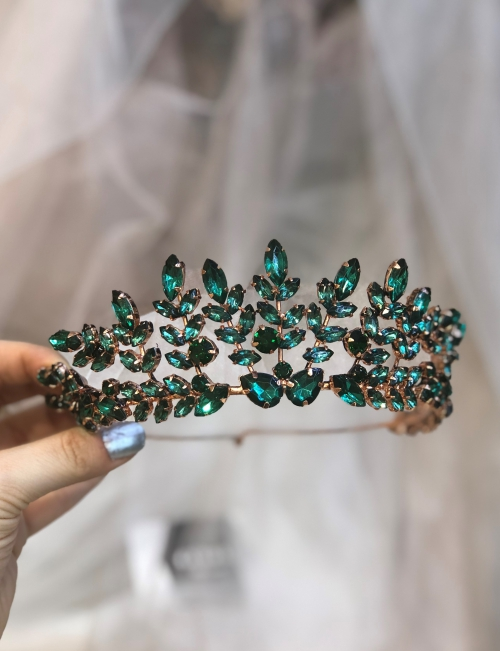 Crystal Green Tiara