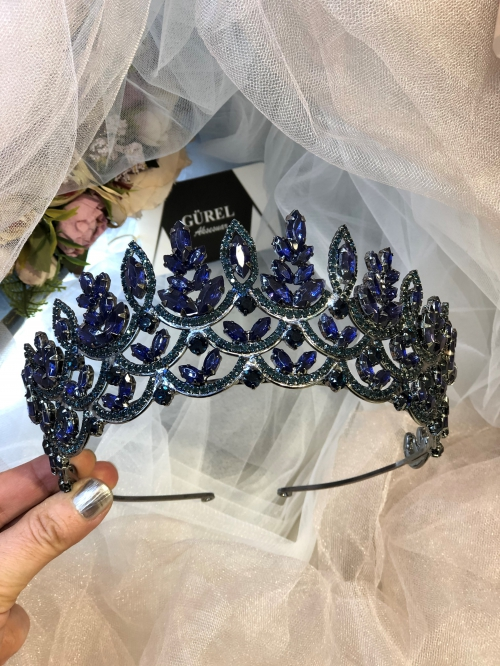 Crystal Navy Blue Crown