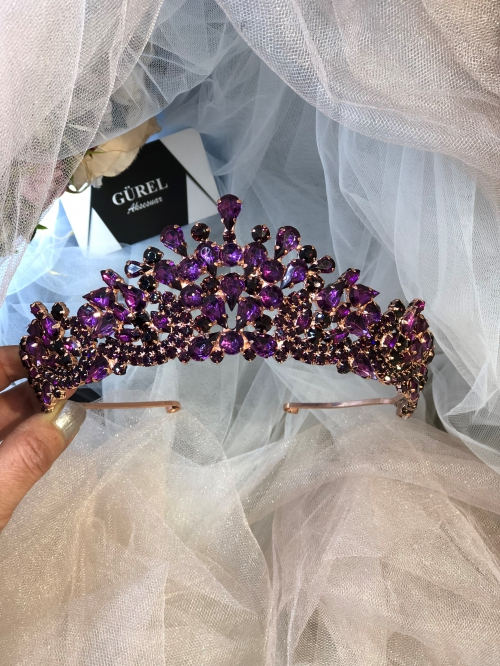 Crystal Purple Tiara