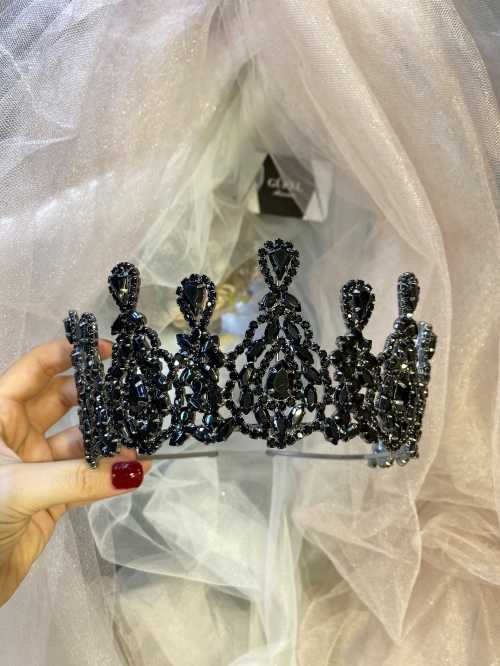 Crystal Black Tiara