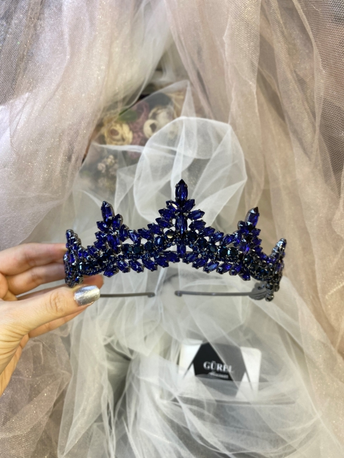 Crystal Navy Blue Tiara